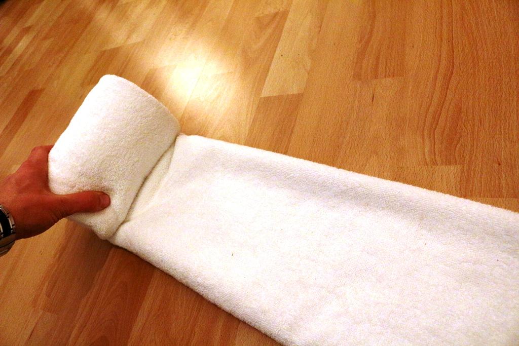 Eine Torte Aus Handtüchern Falten Handtücher Falten